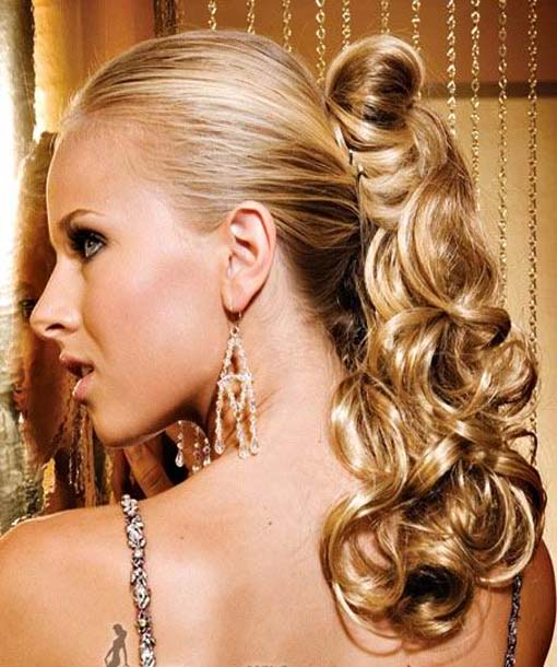 Ponytail Curly Hairstyles 2013