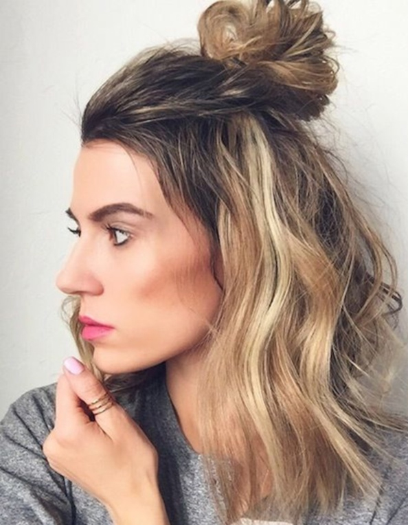 Medium Length Half Up Half Down Hairstyles 2017