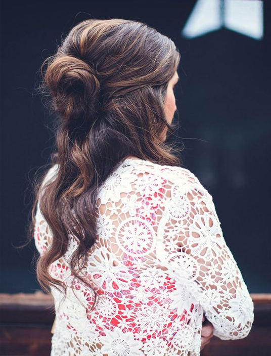 Half Bun Half Down Hairstyles Fall/Winter 2018 - 2019