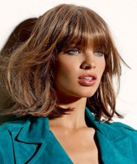 Medium Hairstyles With Bangs 2014