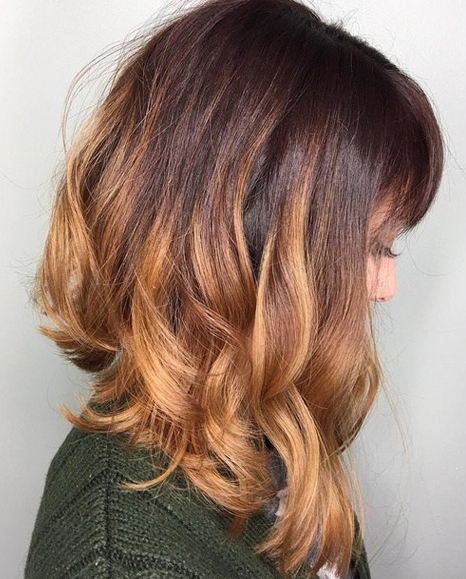 brown caramel glaze is the most amazing hair color this summer