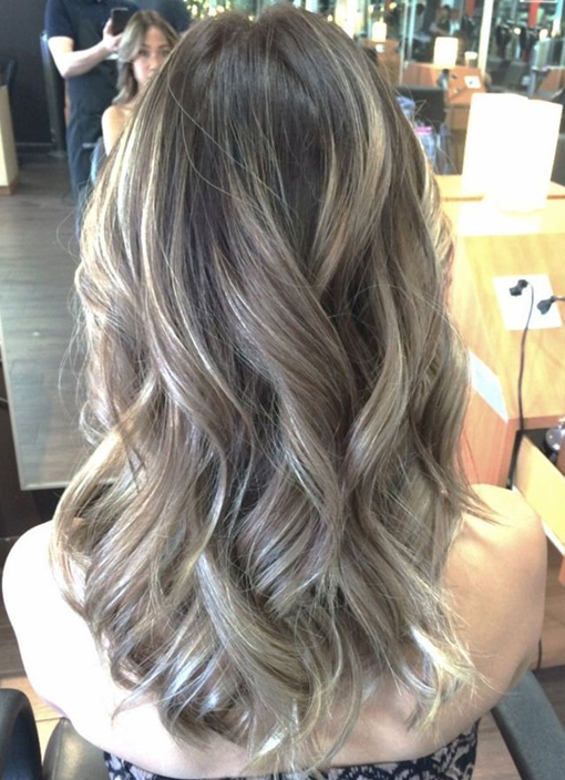 charcoal silver curly hairstyles 2017-2018