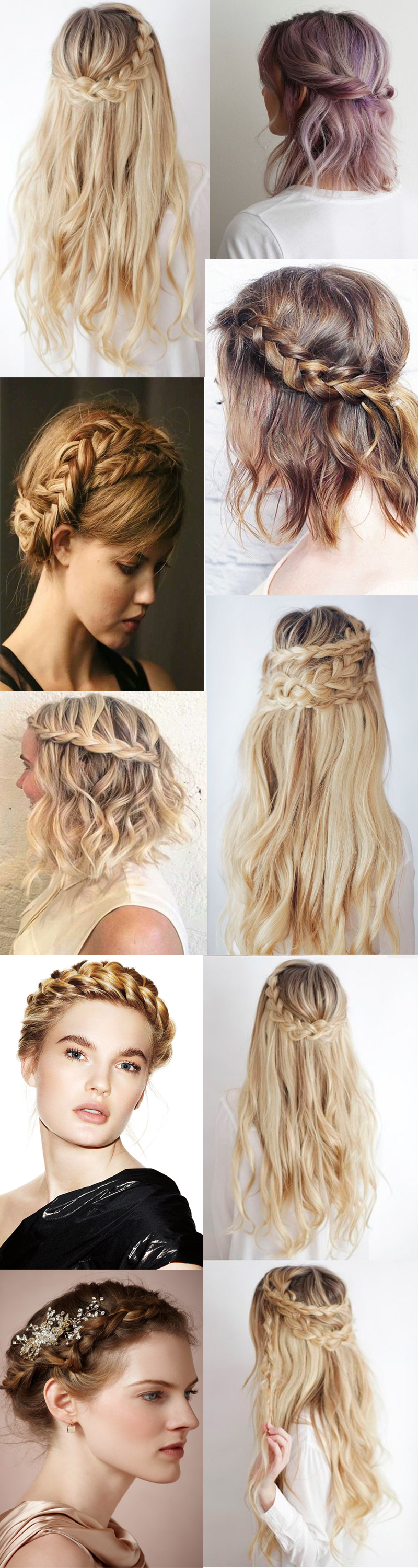 Crown wedding braids hairstyles 2016 2017 summer/spring