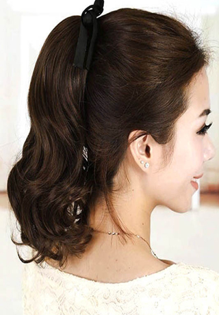fluffy ponytail medium length hairstyles 2016
