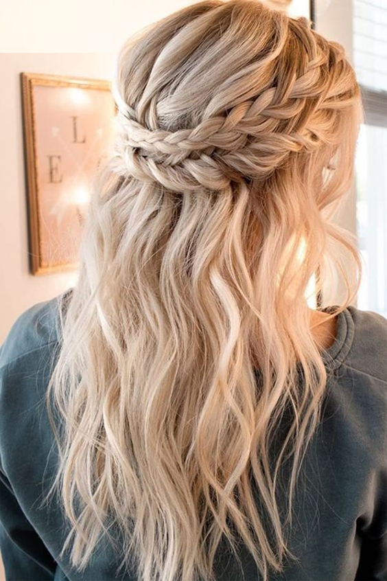 half bun half braid hairstyles ideas for fall 2018-2019