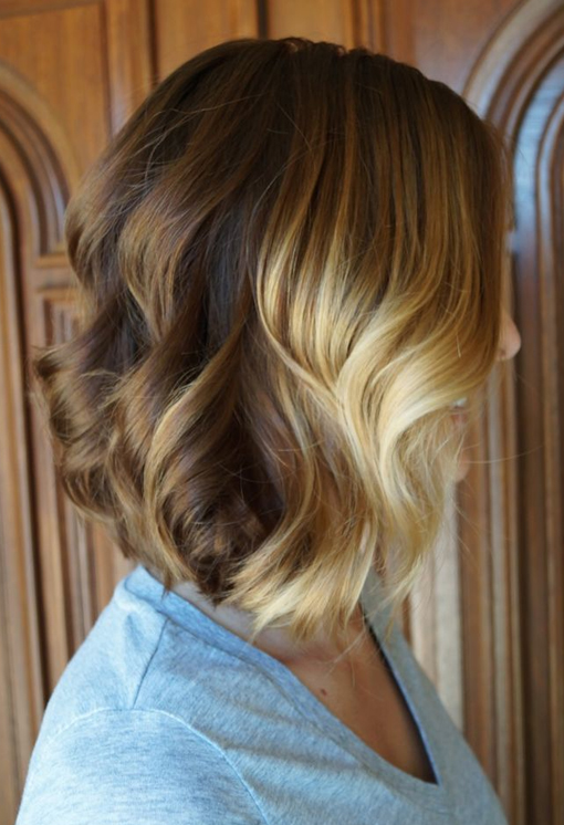 inverted bob cut blonde ombre hairstyles 2018
