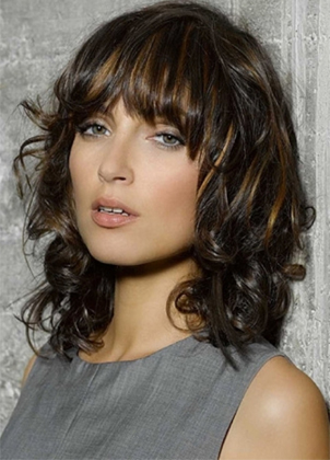 These Hairstyles Have Been Noted On Medium Curly With Bangs 2016