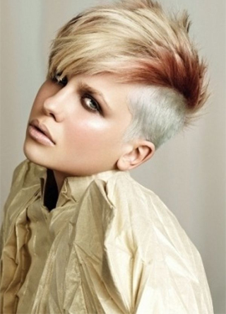 Mohawk short undercut with stylish pop hair 2016