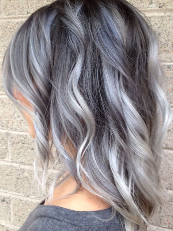 platinum ice silver wavy coiffure hairstyles for autumn winter season