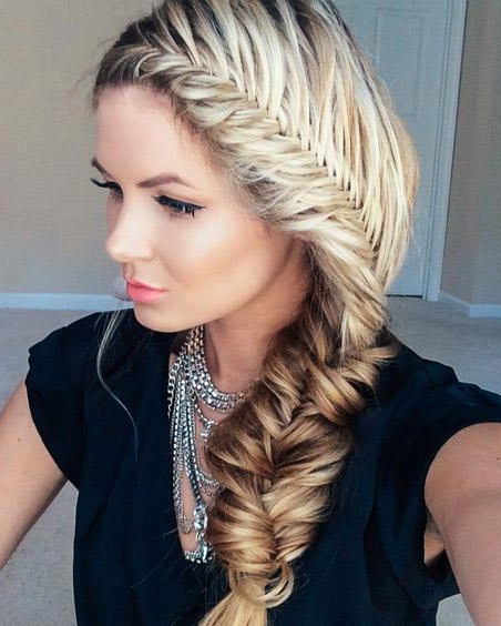 polished unique fishtail braid hairstyles