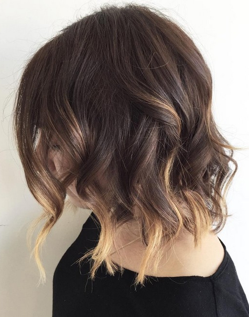 short a line bob blonde balayage highlights