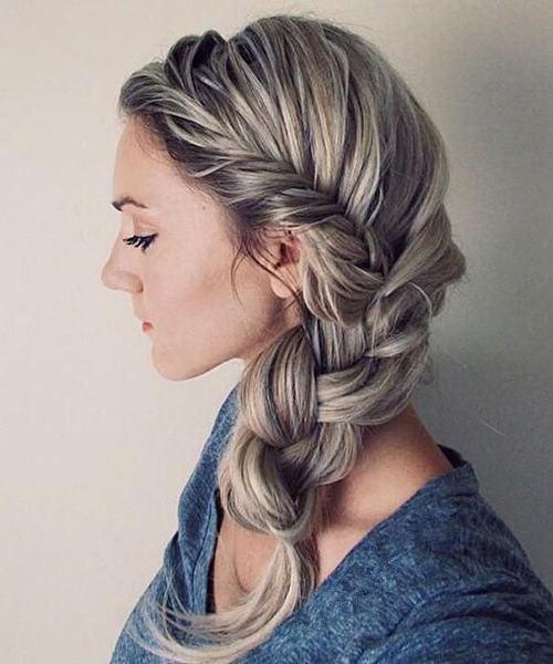 twisted side braid hairstyle 2018